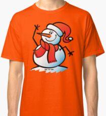Snowman Waving Classic T-Shirt
