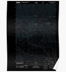 USGS Topo Map Washington State WA Teanaway Butte 20110601 TM Inverted Poster