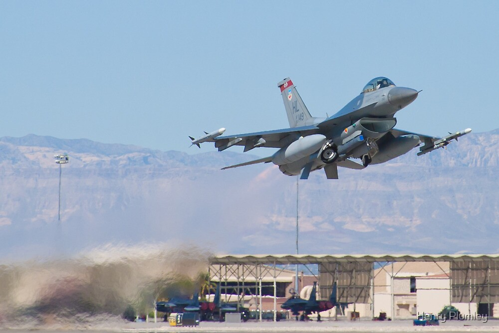 #HL AF 89 0149 F-16C Fighting Falcon Taking Off by Henry Plumley