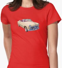 1949 Ford Custom Deluxe Convertible Antique Car Womens Fitted T-Shirt
