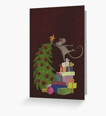 On top of the mousechristmastree Greeting Card