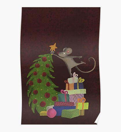 On top of the mousechristmastree Poster