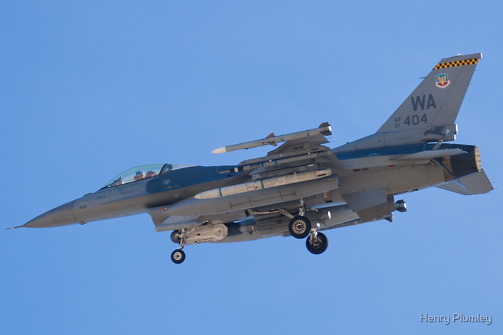 WA AF 91-0404 F-16C Fighting Falcon by Henry Plumley
