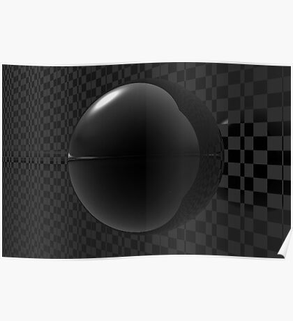 Black Checkers Poster