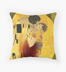 Pop goes Klimt 1 - Hannigram Throw Pillow