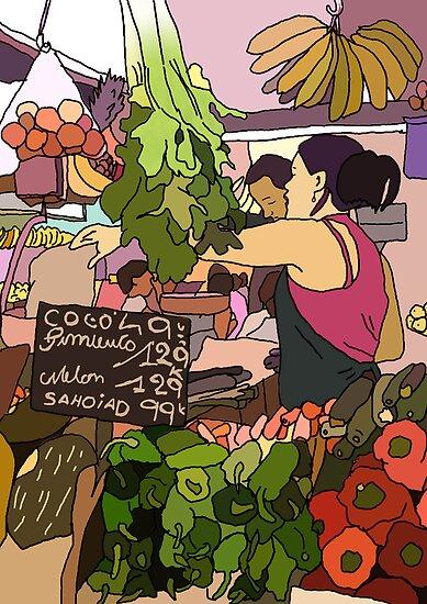 fruit n veg market  by Daisy Brooke