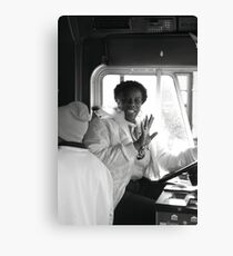 Entertaining Tram Driver Canvas Print