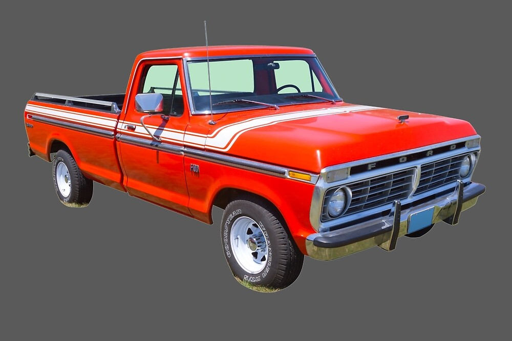 1975 ford f100 explorer pickup truck by kwjphotoart redbubble. Black Bedroom Furniture Sets. Home Design Ideas