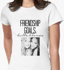Friendship Goals; ButtahBenzo Women's Fitted T-Shirt