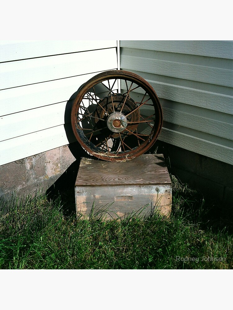 Ford Model A Wheel on Bee-keeper's Box by rodneyj46