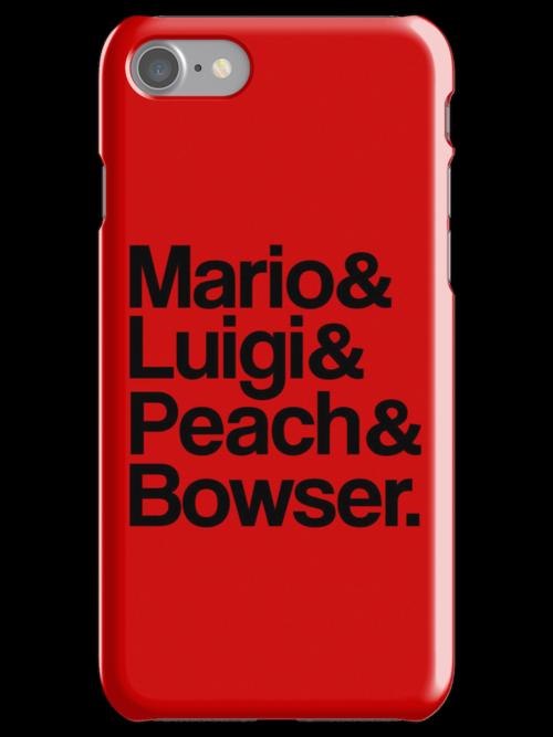 Mario & Luigi & Peach & Bowser - Black by ScottW93