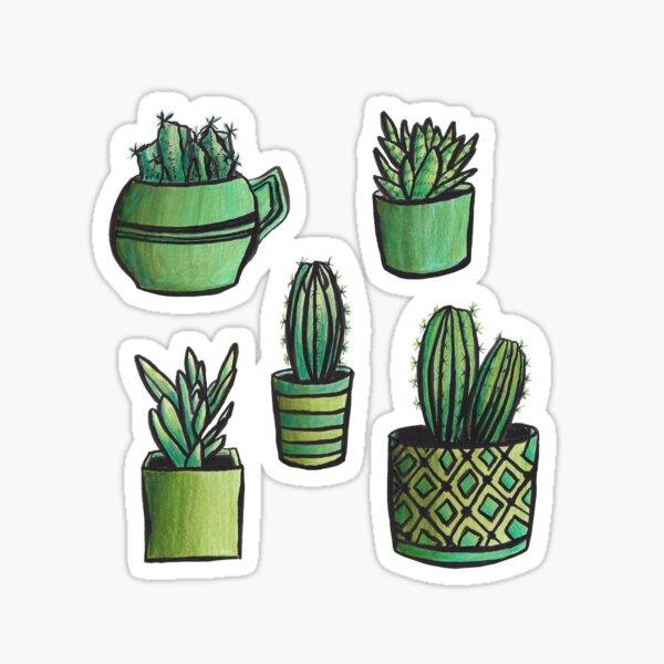 Cacti & Succulents Sticker Set Sticker