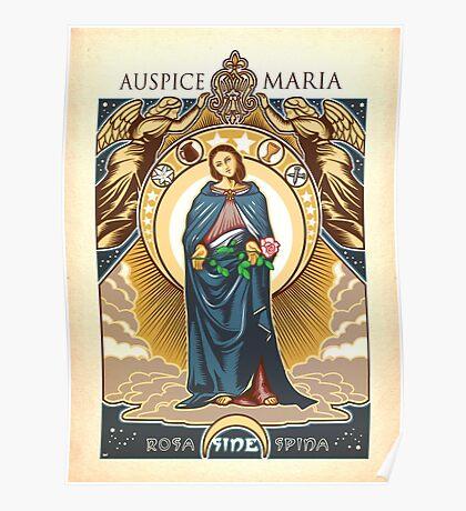 Auspice Maria - Mary Nouveau Poster