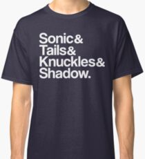 Sonic & Tails & Knuckles & Shadow - White Classic T-Shirt