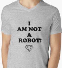 I AM NOT A ROBOT V-Neck T-Shirt