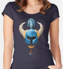 Low-Poly Shovel Knight Women's Fitted Scoop T-Shirt