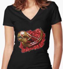 Chestburster B 2 Women's Fitted V-Neck T-Shirt