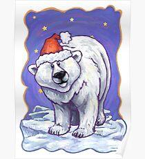 Polar Bear Christmas Poster