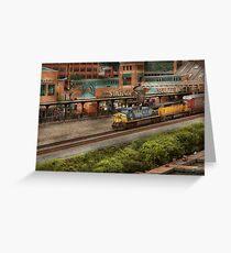 Train - Pittsburg, PA - Station Square Greeting Card