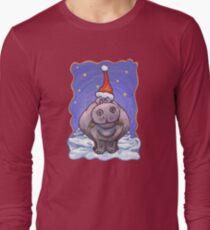 Hippopotamus Christmas Long Sleeve T-Shirt