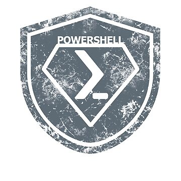 PowerShell Emblem Gray by myclubtees