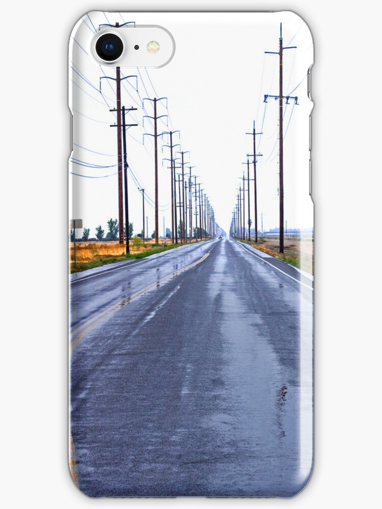 Wet Country Road - iPhone Case by Buckwhite