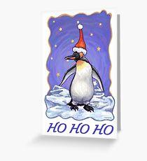 Penguin Christmas Card Greeting Card