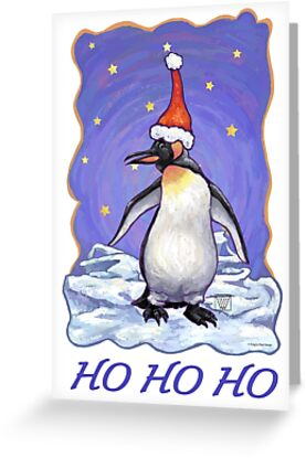 Penguin Christmas Card by ImagineThatNYC
