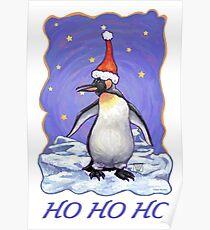Penguin Christmas Card Poster