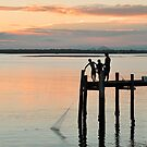 Just Fish'in - Bribie Island by Barbara Burkhardt