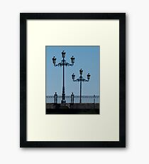 Lamps on the Triana Bridge, Seville Framed Print