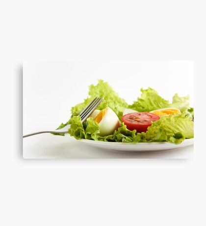 Green Leafy Salad Canvas Print