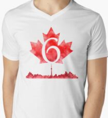 Toronto 6 Mens V-Neck T-Shirt