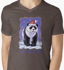 Panda Bear Christmas Card Mens V-Neck T-Shirt