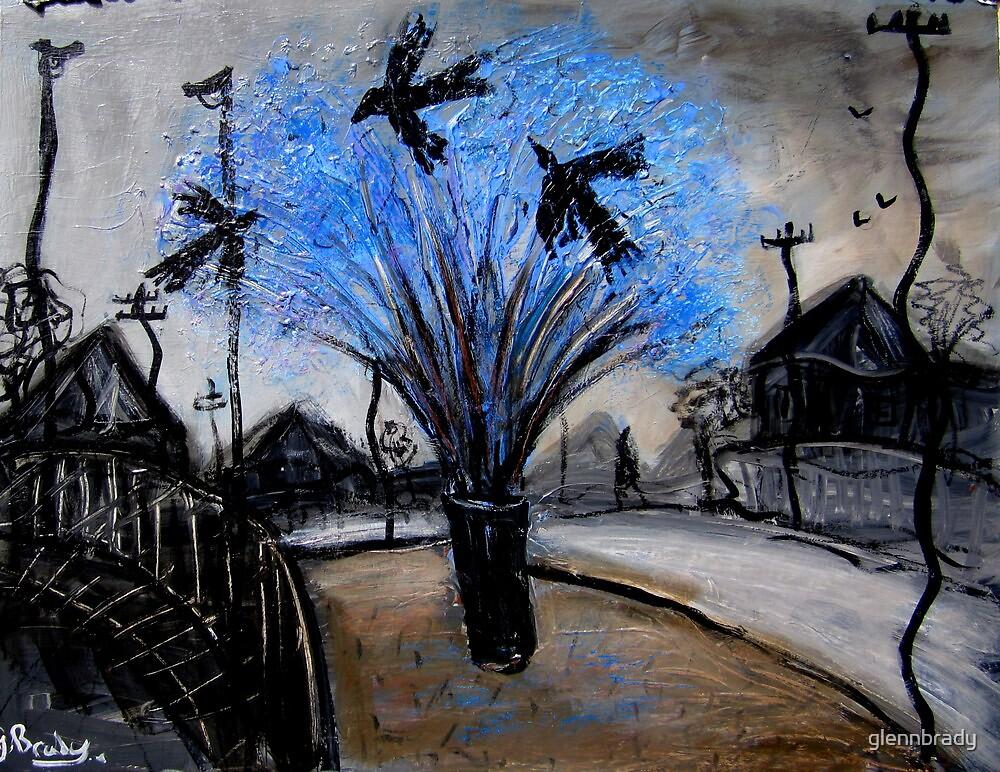 crows in the jacaranda by glennbrady