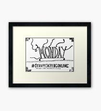 Occupy Cyber Monday cartoon Framed Print