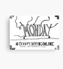 Occupy Cyber Monday cartoon Canvas Print