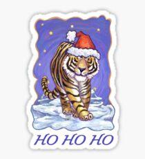 Tiger Christmas Card Sticker