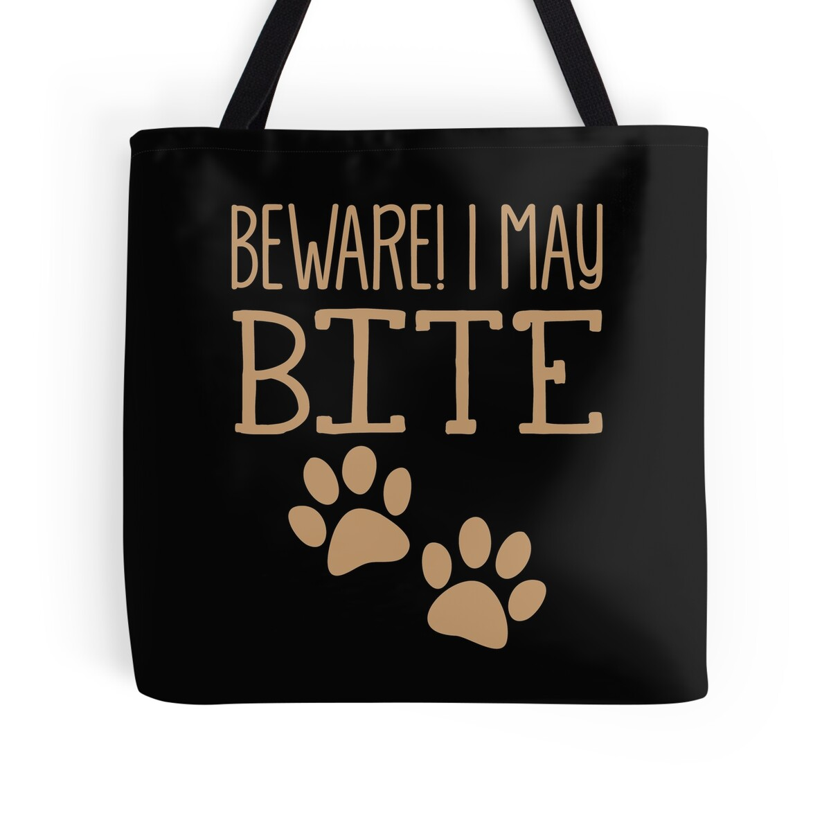 Wall Stickers Perth Quot Beware I May Bite With Sharp Teeth Quot Tote Bags By