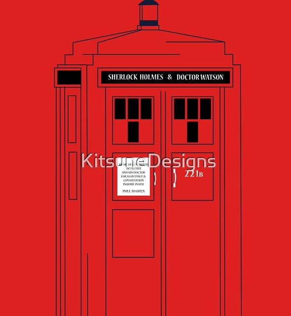 221b Public Phone Box by KitsuneDesigns