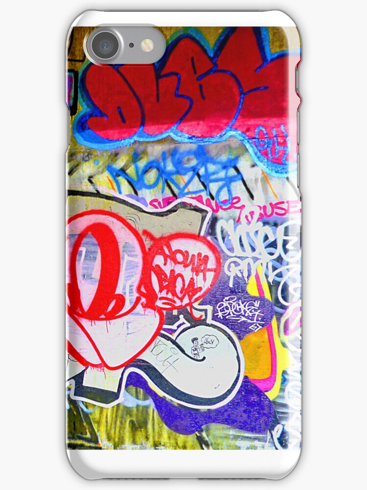 Brooklyn Graffiti iPhone case by andytechie