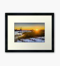 Shem Creek Sunset Framed Print