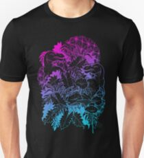 T Rex Pink and Blue Unisex T-Shirt