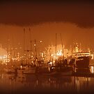 Ships on a Foggy Night by Chappy