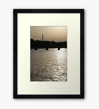 Paris - Seine reflections August 2011 Framed Print