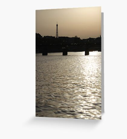 Paris - Seine reflections August 2011 Greeting Card