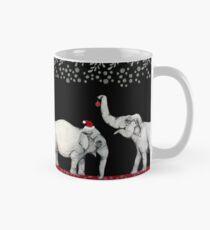 Merry Elephants Wearing Santa Hats Mug