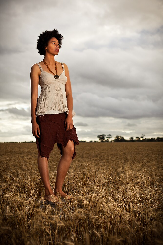 Amirah in the Field by James Troi
