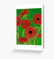 Orange Gerberas Greeting Card