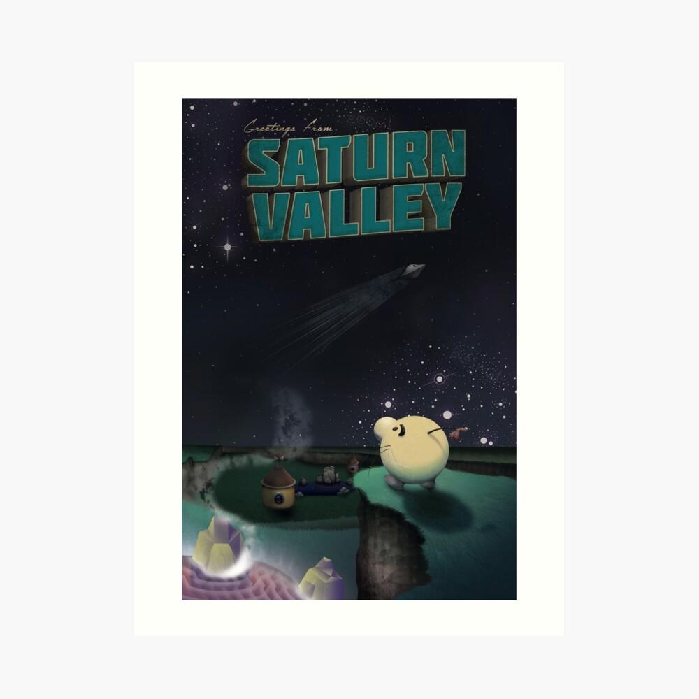 Saludos desde el Valle de Saturno Lámina artística
